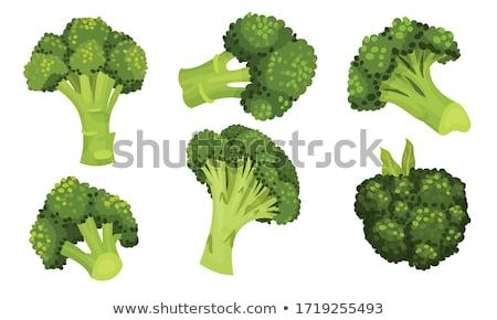 Fraîches brocoli une ensemble tête Photo stock © Digifoodstock
