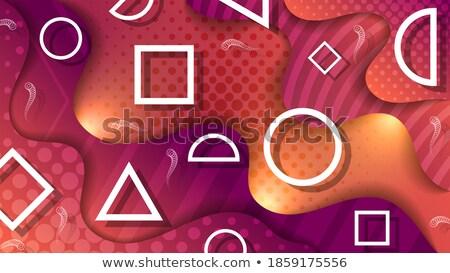 geometric banners set in elegant purple color shades Stock photo © SArts