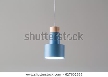 hanging luminous wooden metallic lamp stock photo © bezikus