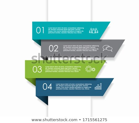 clean colorful four steps business infographic template design stock photo © sarts