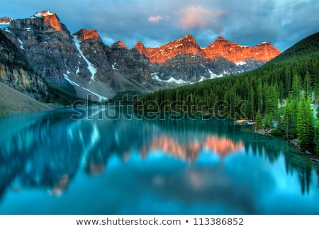 Morning Clouds in the Canadian Rockies Stock photo © wildnerdpix