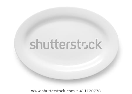 White oval plate Stock photo © Digifoodstock