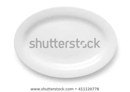 белый овальный пластина чистой блюдо Сток-фото © Digifoodstock