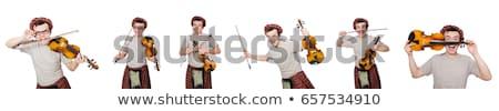 vicces · hangszer · izolált · fehér · tánc · tánc - stock fotó © elnur