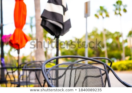 Colorful Tables Chairs Outdoor Restaurant Cafe USA Stock photo © Qingwa
