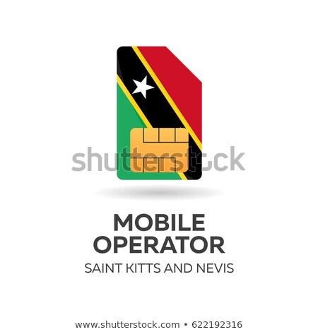 Aziz hareketli operatör kart bayrak soyut Stok fotoğraf © Leo_Edition
