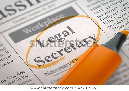 Stock photo: We are Hiring Legal Secretary. 3D Illustration.