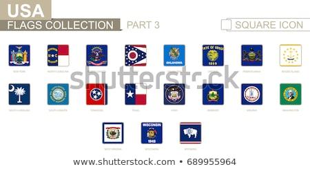 Banderą placu ikona odizolowany biały 3d ilustracji Zdjęcia stock © MikhailMishchenko