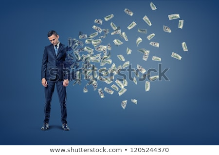 Pszichológia pénz pénzügyi gondolkodik gazdasági szimbólum Stock fotó © Lightsource
