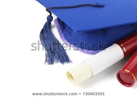 Graduation Mortar Board and Scroll Holder Stock photo © dezign56