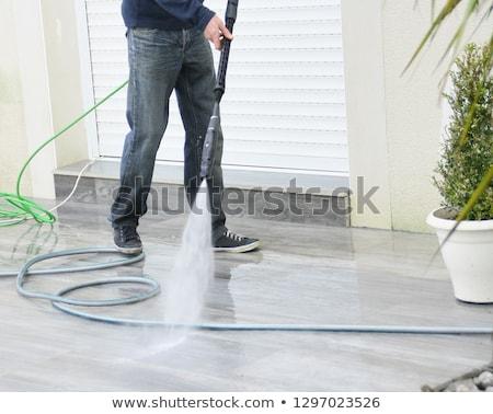 Takarítás terasz nyomás alátét erő magas Stock fotó © bubutu