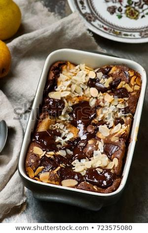 squidgy pear hazelnut chocolate spread cake Stock photo © zoryanchik
