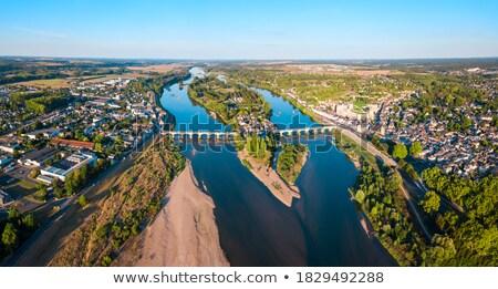 Panorama río cielo ciudad Foto stock © benkrut