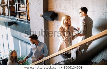Colleagues on stairs Stock photo © IS2