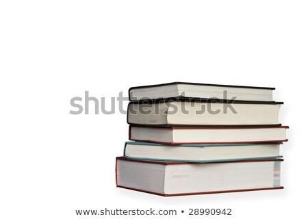 Beş kitaplar yalıtılmış beyaz referans Stok fotoğraf © RTimages