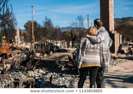 Disaster ruined house Stock photo © ia_64