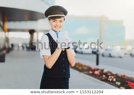 Vlucht glimlachend business man zakenman leuk Stockfoto © IS2