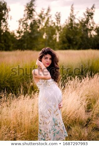 Foto d'archivio: Uomo · incinta · ragazza · Coppia · arte · madre