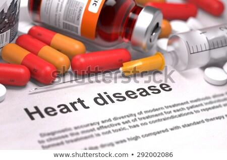сердце провал напечатанный диагностика красный расплывчатый Сток-фото © tashatuvango