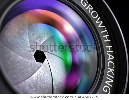 マーケティング ソリューション フロント ガラス カメラレンズ クローズアップ ストックフォト © tashatuvango