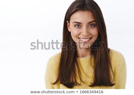 Portre genç sarışın kadın gülen Stok fotoğraf © LightFieldStudios