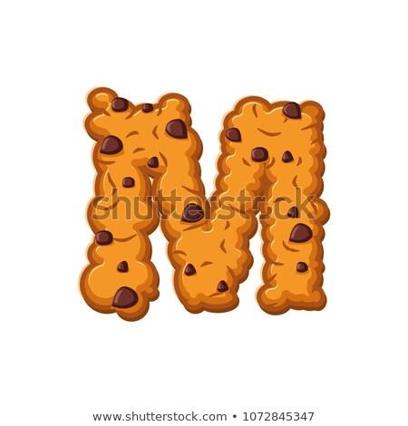 Levél sütik süti betűtípus kása keksz Stock fotó © popaukropa