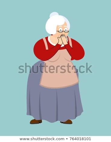 Grootmoeder omg bang oma mijn god Stockfoto © popaukropa
