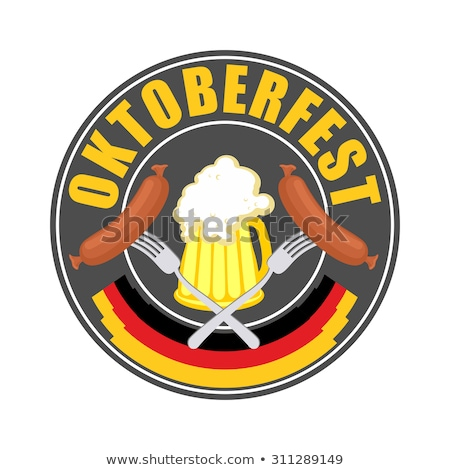 Oktoberfest logo traditionnel annuel bière festival Photo stock © popaukropa
