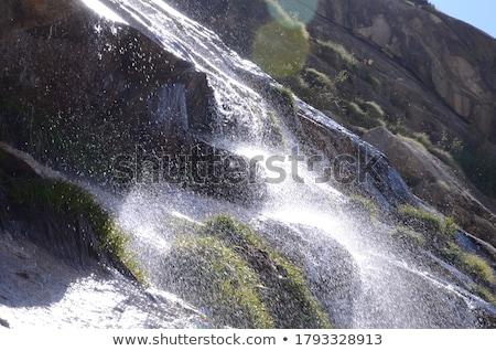 Cascade roches eau relevant inférieur Mexique Photo stock © THP