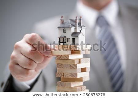 Ingatlan kockázat otthon vásárol veszély csoport Stock fotó © Lightsource