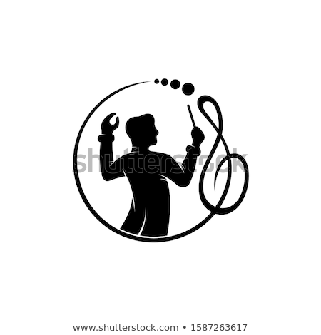 Hangjegyek kabala kórus illusztráció három nyolc Stock fotó © lenm