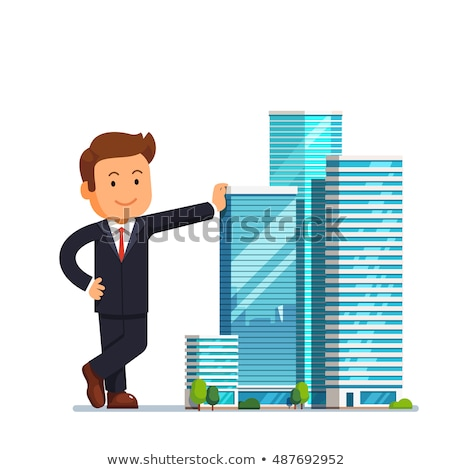 Stock photo: Man standing next to architectural model