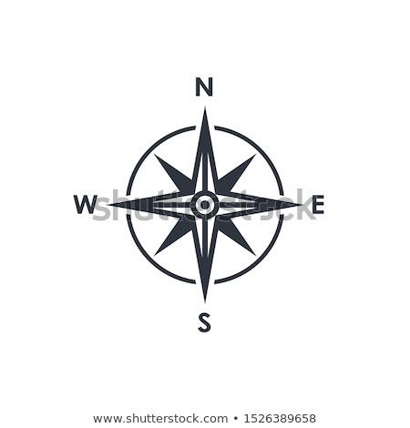 compass rose icon in flat style stock photo © studioworkstock