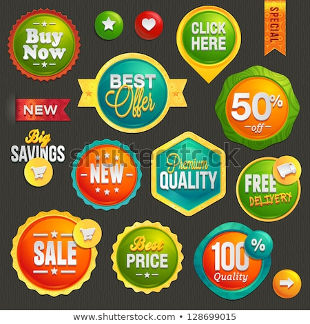 Best Offer Colorful Offer Glossy Shiny Vector Icon Button Design Stock photo © rizwanali3d