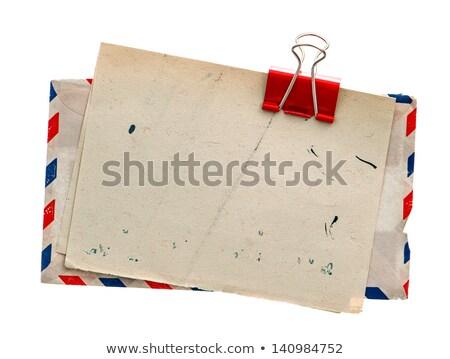 Carta papel correo aéreo dotación comunicación mail Foto stock © devon