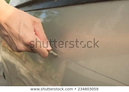 coche · ladrón · bloqueo · noche - foto stock © stevanovicigor