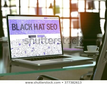Blackhat Marketing - Modern Laptop Key. 3d Stock photo © tashatuvango