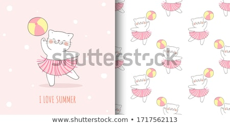 Doodle cartoon seamless pattern summer holiday concept Stock photo © balasoiu