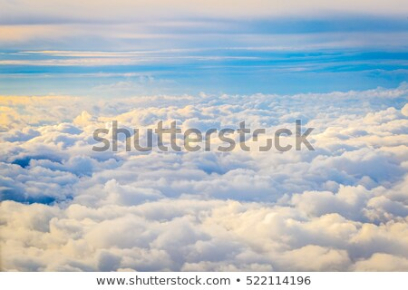 удивительный облака небе атмосфера плоскости высокий Сток-фото © Taiga