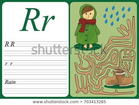 Educativo juego aprender escritura fácil Foto stock © Natali_Brill