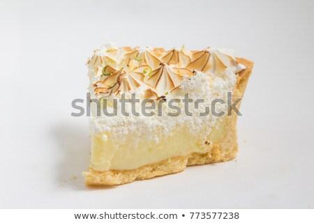 peça · limão · torta · preto · reflexão · cor - foto stock © Cipariss