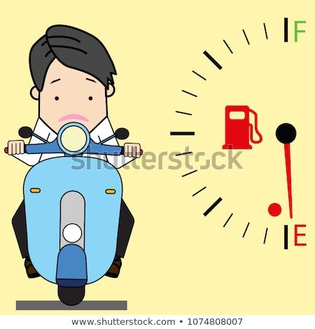 Fiets brandstof tank geïsoleerd motorfiets achtergrond Stockfoto © popaukropa