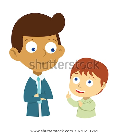 Kid Boy Dad Questions Stock photo © lenm