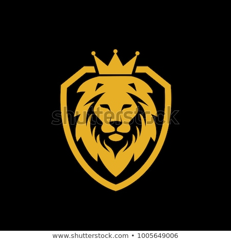Lion and Shield heraldic symbol. Leo Sign Animal for coat of arm Stock photo © MaryValery