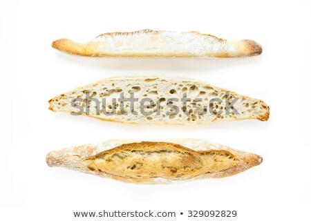 Français baguette blanche pain fond blanc Photo stock © Digifoodstock