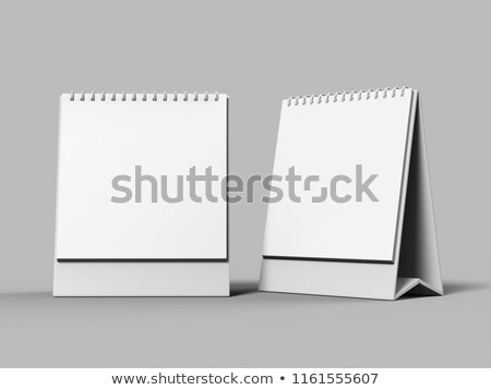 vacío · escritorio · calendario · diseno · 3D - foto stock © user_11870380