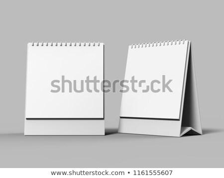 Boş büro takvim dizayn 3D Stok fotoğraf © user_11870380