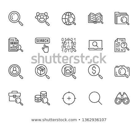 Magnifying glass looking for a folder isolated web icon stock photo © Imaagio
