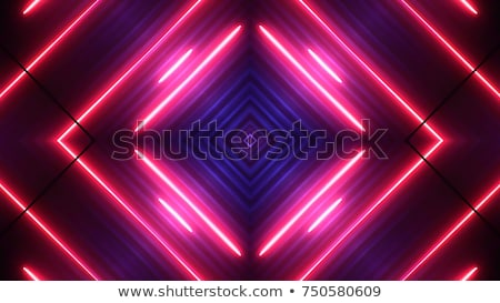 tecnologia · superfície · vermelho · néon · luz · abstrato - foto stock © ssuaphoto