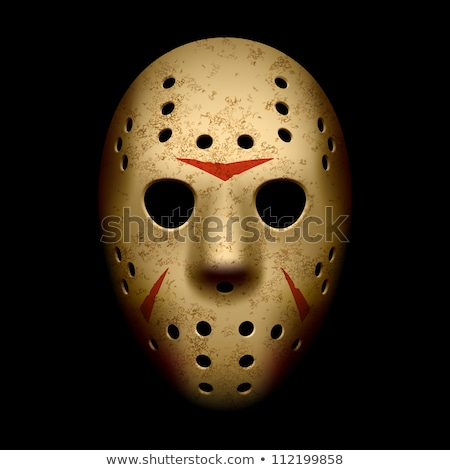 Horror hockey masker halloween ontwerp ijs Stockfoto © nezezon